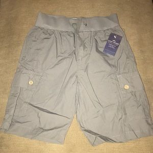 Boys Lucky Brand Charcoal Cargo Shorts Small NWT